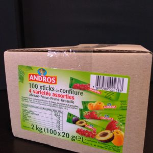 100 sticks de confiture 20g Andros