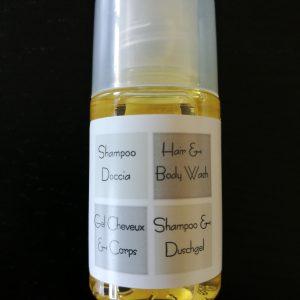 flacon dose individuelle de shampoing