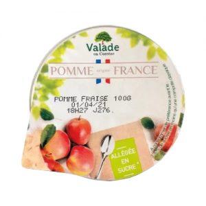 Compote pomme fraise en portions de 100gr.