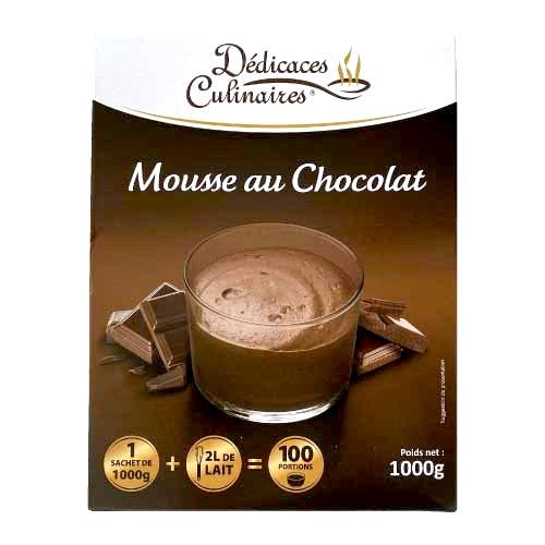 Préparation de mousse au chocolat