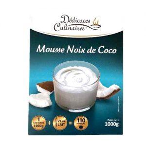 Préparation de mousse à la noix de coco