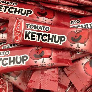 Sticks de sauce ketchup individuel de 10 grammes, marque saveur et sauces