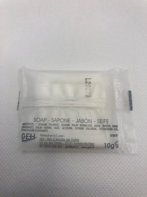 savon welcome carré 10g dos