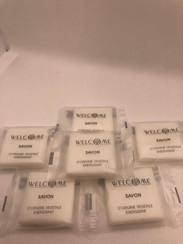 lot savon welcome 10g