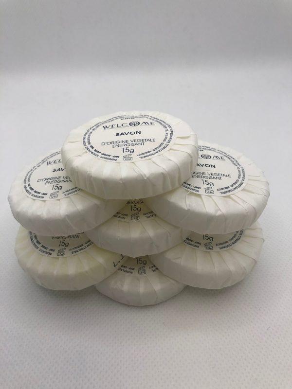 savons rond emballage papier lot