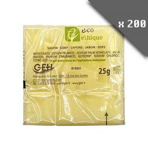 Pack de 200 Savons rectangulaires écologique éthique 25g