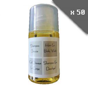 lot de 25 Gel douche corps et cheveux SANS PARABENE - testé dermatologiquement