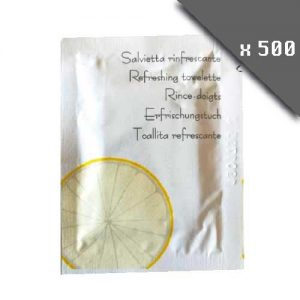 pack de 500 lingettes rince-doigts pour la table