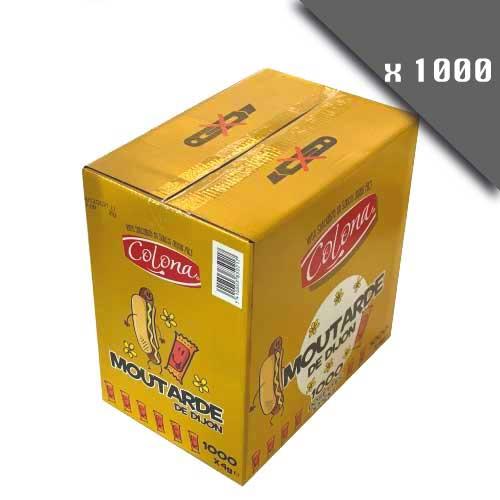 Moutarde en sticks de 4g - Pack de 1000 dosettes