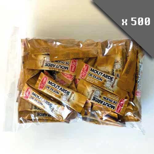 Pack de 500 dosettes Moutarde en sticks de 4g,marque COLONA