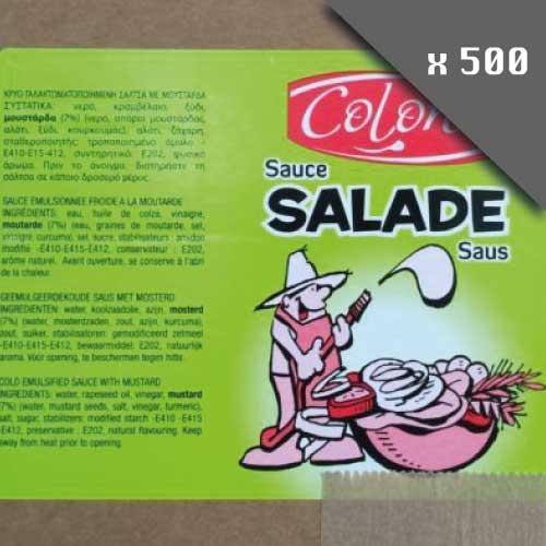 Pack de dosettes de sauce salade lot de 500 pièces