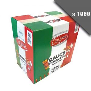 Dosettes individuelles de sauce pimentée pour pizza 4ml pack de 1000 dosettes